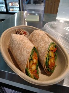 vegan curry wrap